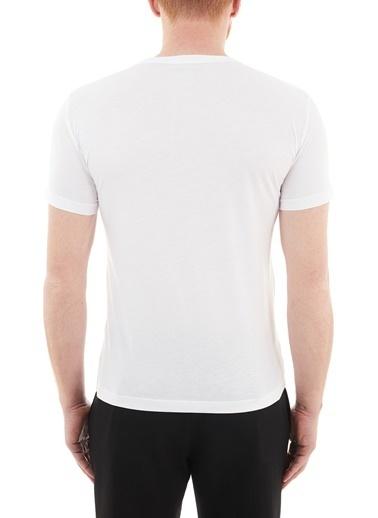 Emporio Armani  Baskılı Bisiklet Yaka % 100 Pamuk T Shirt Erkek T Shırt S 6Hpt81 Pjm9Z 1100 Beyaz